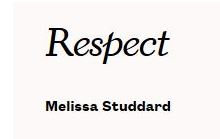 "Photo of the headline ""Respect"""