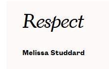 """Photo of the headline """"Respect"""""""