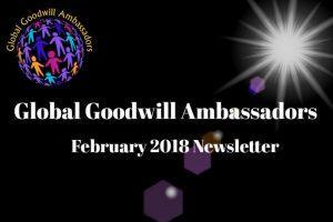 Global Goodwill Ambassadors - Newsletter 02 - 2018